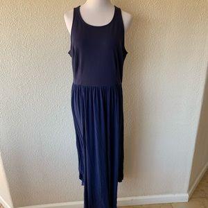 OLD NAVY SZ L Maxi DRESS BLUE WAIST STRETCHY